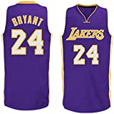 Mens Kobe Bryant #24 Los Angeles Lakers Road Jersey L