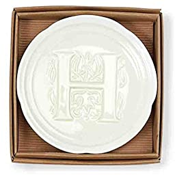 Mud Pie Boxed Initial Accessory Dish-H