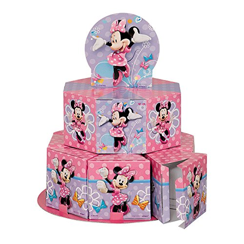Minnie Mouse Favor Box Centerpiece Decoration for 8