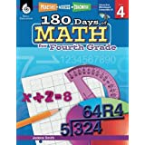 180 Days of Math for Fourth Grade – 4th Grade Problem Solving Workbook for Ages 8-10, Children's Math Workbook for Grade 4 (180 Days of Practice)