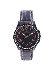Frankford Fashion Analogue Black Dial Women's Watch-LS-8 BK Diamond