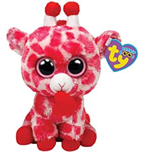 "Ty Beanie Boos Jungle Love Giraffe 6"" Plush, Pink"
