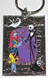 Disney Nightmare Before Christmas Jack Skellington & Sally Color Pewter Keyring