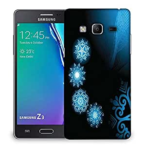 Snoogg Abstract Blue Black Pattern Designer Protective Phone Back Case Cover For Samsung Galaxy Tizen T3
