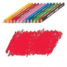 JOLLY X-BIG Delta Colored Pencil, Cherry Red, Three 12-Packs = 36 pcs. 3399-0006