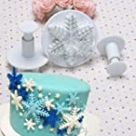 New 3Pcs/Set Snowflake Fondant Cake D...