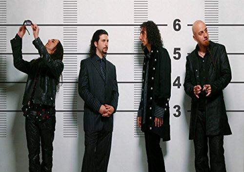 "System of a Down, 4 Serj Tankian Daron Vartan Malakian Shavo Odadjian John Dolmayan-Album fotografico Music Band grande in metallo, Design unico, ottima per foto con stampa A3 """