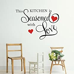 [Best price] Kids&#039 - THIS KITCHEN IS SEASONED WITH LOVE Wall Quote Sticker ART Home KITCHEN Decor - toys-games