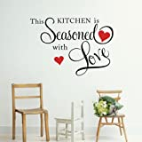 THIS KITCHEN IS SEASONED WITH LOVE Wall Quote Sticker ART Home KITCHEN Decor