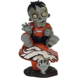 Denver Broncos Zombie Sitting On Team Logo by Forever Collectibles