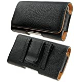 BELT CLIP POUCH HOLSTER FLIP COVER CASE HOLDER HTC One M8 (Galaxy S5 Mini)