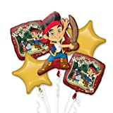 Disney Jake and the Neverland Pirates Balloon Birthday Party Favor Supplies 5ct Foil Balloon Bouquet