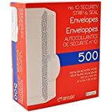 No. 10 Envelopes, Strip & Seal, Security Tinted, 24lb White Paper, 500 CT - PSTF10NWT