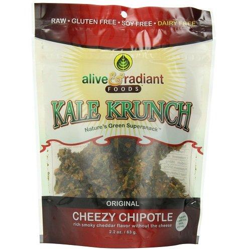 Alive & Radiant グルテンフリー ケールチップ(チポトレ&チーズ風味)(2.2oz x3袋)[海外直送品] [並行輸入品]