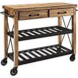 Crosley Furniture Roots Rack Industrial Kitchen Cart in Pine