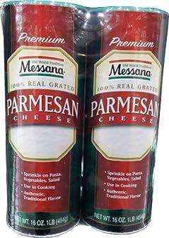 メッサーナ 大容量パルメザンチーズ 454g×2本
