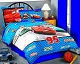 Disney Pixar Cars Full - Twin Comforter - 3D Plush Logo Numbers