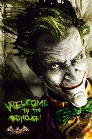Joker Arkham Asylum Batman Poster
