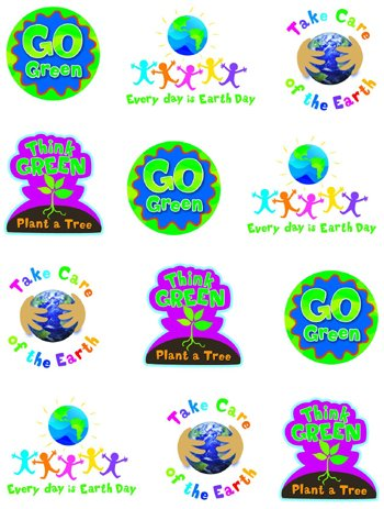 20 Pack CREATIVE TEACHING PRESS GO GREEN STICKERS