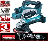 Makita BKP180Z 18V Li-Ion 82mm Cordless Planer Plus BGA452Z 115mm 18V Cordless Angle Grinder (Bare Unit)