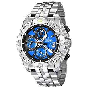 Festina Men's F16542/5 Silver Stainless-Steel Quartz Watch with Blue Dial
