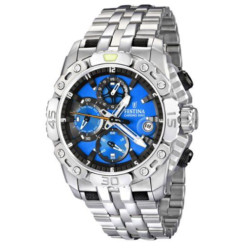 Festina Men's Bike 2011 Chronograph Watch F16542/5 with Stainless Steel Strap and Blue Dial