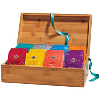 Bamboo Chest with Fruit and Scented Teas