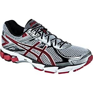 ASICS Men's GT 1000 2 Running Shoe,White/Maroon/Lightning,8 M US