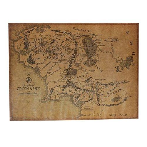 le-seigneur-de-laffiche-carte-retro-papier-kraft-anneau-terre-du-milieu