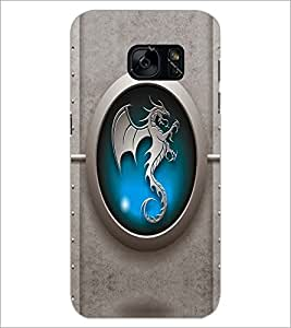 PrintDhaba Dragon D-5610 Back Case Cover for SAMSUNG GALAXY S7 (Multi-Coloured)