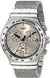 Swatch Herren-Armbanduhr XL Silverish Chronograph Quarz Edelstahl YVS405G