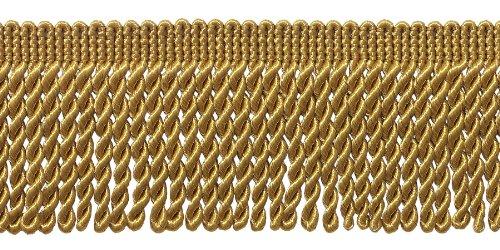 10 Yard Value Pack of GOLD 2.5 Inch Bullion Fringe Trim, Style# EF25 Color: C4 (31 Ft / 9.5Meters)