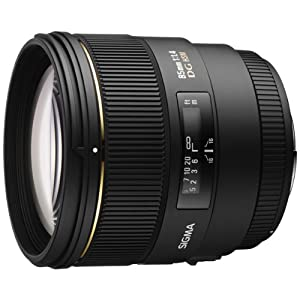 Sigma 85mm f/1.4 EX DG HSM Large Aperture Medium Telephoto Prime Lens for Sigma Digital SLR Cameras