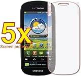 5x Samsung Continuum SCH-i400 Smart Phone Premium Clear LCD Screen Protecto ....