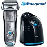 Braun 799cc-6 Series 7 Mens 3 Blade Foil Wet Dry Shaver European Plug with American Adapter Included