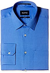 Blackberrys Men's Formal Shirt (8907196413572_NSSIGNDNYAN14BPQ_44_Dark Blue)