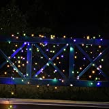 Solar Outdoor String Lights, Loende Waterproof 72FT 200 LED 8 Modes Fairy Garden Lighting for Indoor, Home, Bedroom, Yard, Patio, Tree, Wedding, Holiday, Party Decorations(Multi-color)