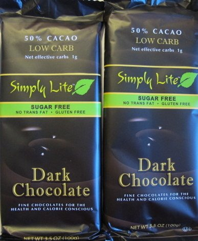 2-- Trader Joe's 50% Cacao Low Carb Simply Lite 