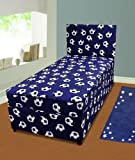Divan Bed Blue Football Boys Economy 3ft Including Mattress Single Size Perfect For Soccer Loving Kids