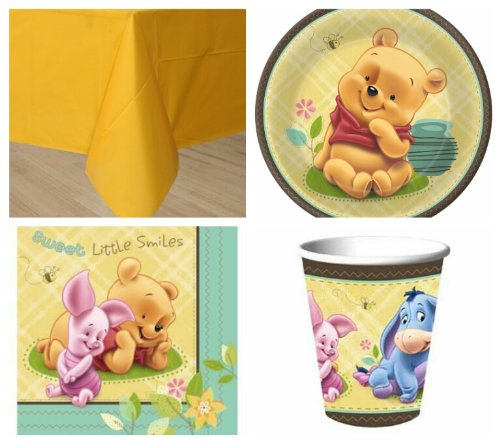 Disney Baby Pooh And Friends Party Pack For 8 Guests! front-100626