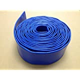 "HydroMaxx 2"" x 100' Heavy Duty Lay Flat Discharge and Backwash Hose for Water Transfer Applications. 4 Bar Agricultural Grade Construction."