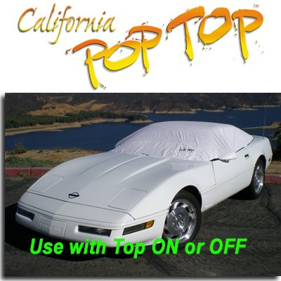 Corvette Coupe (1983-1996) DuPont Tyvek PopTop Sun Shade, Interior, Cockpit, Car Cover. Use with Top ON or OFF - SEMA SHOW NEW PRODUCT AWARD WINNER, C4,1983,1984,1985,1986,1987,1988,1989,1990,1991,1992,1993,1994,1995,1996