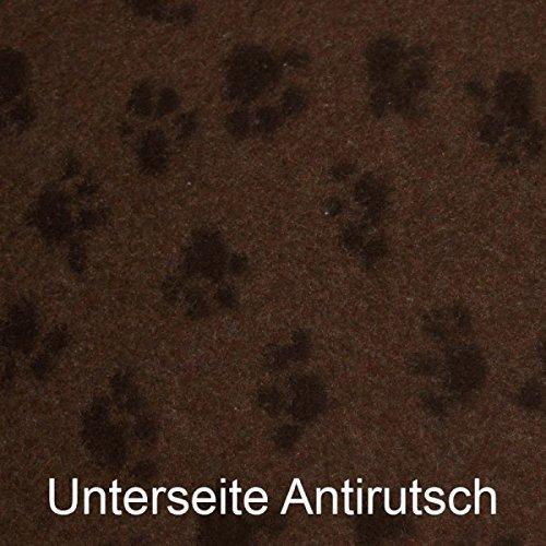 Hundedecke-Thermodecke-Braun-Schwarze-Pftchen-waschbar-antirutsch-100x75cm-30mm