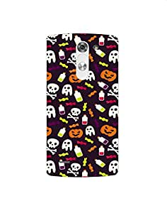 LG G3 Styles Colorful-halloween-pattern-01 Mobile Case (Limited Time Offers,Please Check the Details Below)