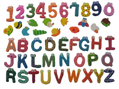 Oekaki boards and white boards with various A341 Let's learn educational Magnet Toys alphabet numbers living species (red, mini oekaki boards)