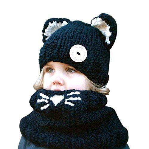 Frbelle-Hiver-Tricots-Bonnet-Chapeaux-Chat-Unisexe-Cagoules-Enfant-Fille-Garon-Bb-Pour-Ski-Vlo-VTT-Protection-Tour-de-Cou-et-Visage-3-4-5-6-7-8-ans