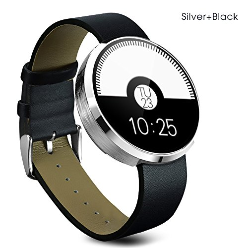 Buyee Dm 360 Waterproof Bluetooth Smart Watch Finger Gestures Voice Control Pedometer Smart Fitness Coach & Tracker Smartwatch for for IOS Apple Iphone 4/4s/5/5c/5s/6/6s Android Samsung S6/s6 Edge/s4/s5/note3/note 4 HTC (Silver)