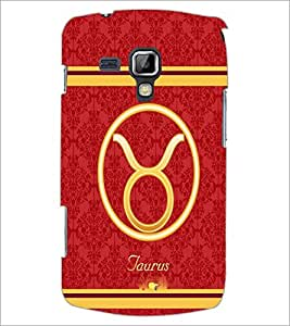 PrintDhaba Zodiac Taurus D-2728 Back Case Cover for SAMSUNG GALAXY S DUOS S7562 (Multi-Coloured)