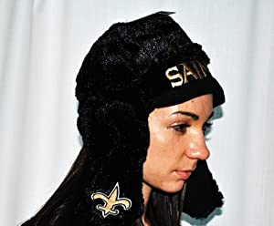 New Orleans Saints Official NFL Football Retro Helmet winter Stadium Dangle Hat by... by forever