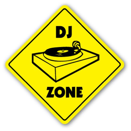 Dj Zone Sign Signs Turntables Gear Lighting Mixer